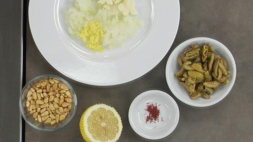 Lemon chicken pine nuts recipe