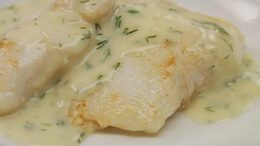 Halibut Cheeks with Lemon-Dill Beurre Blanc