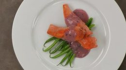 Pan-Fried Salmon with Beurre Rouge