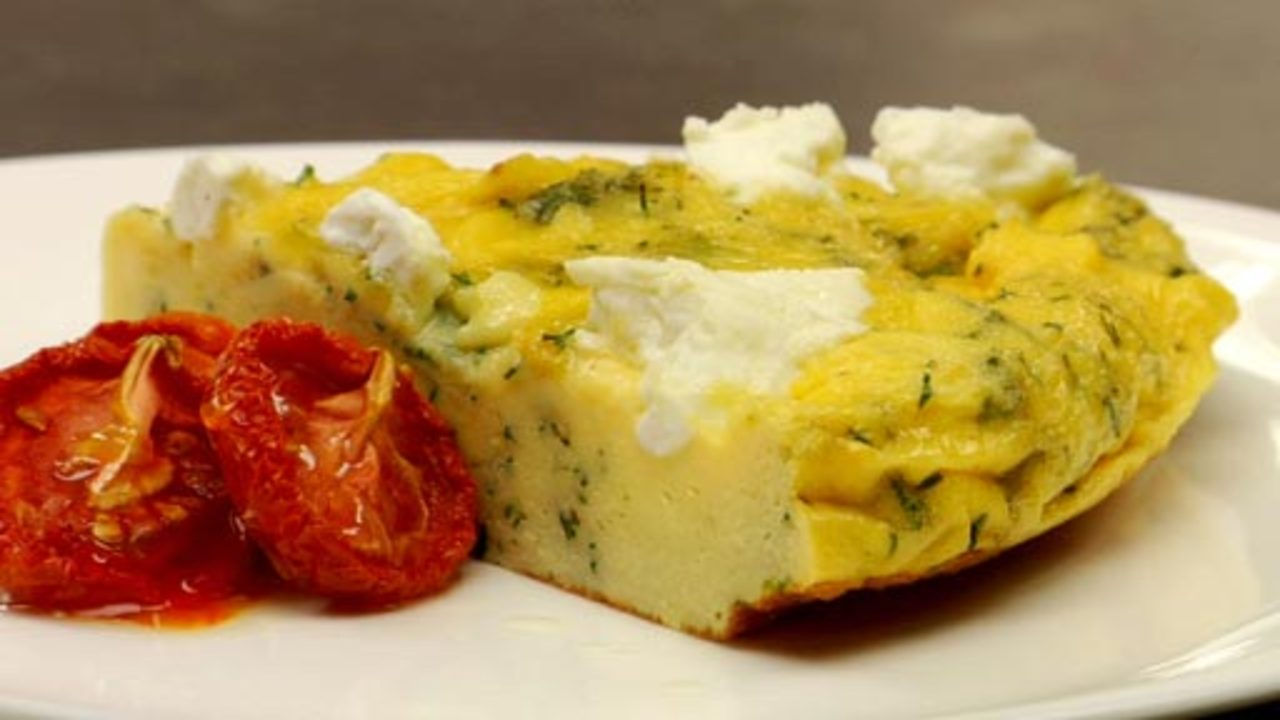 Herb & Goat Cheese Frittata Recipe Text   Rouxbe Cooking ...