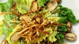 Soy-Sesame Salad w/ Wild Mushrooms