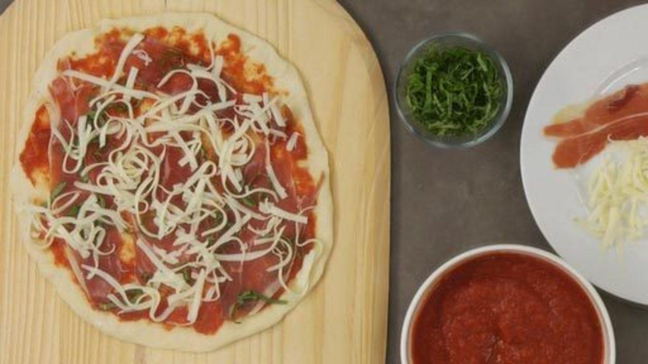 Serrano Ham & Fontina Pizza