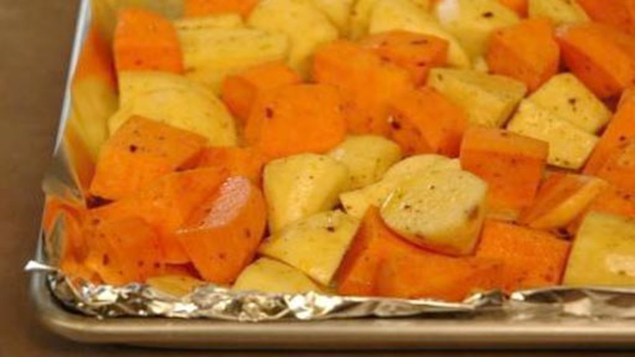 Preparing the Yams and Sweet Potatoes