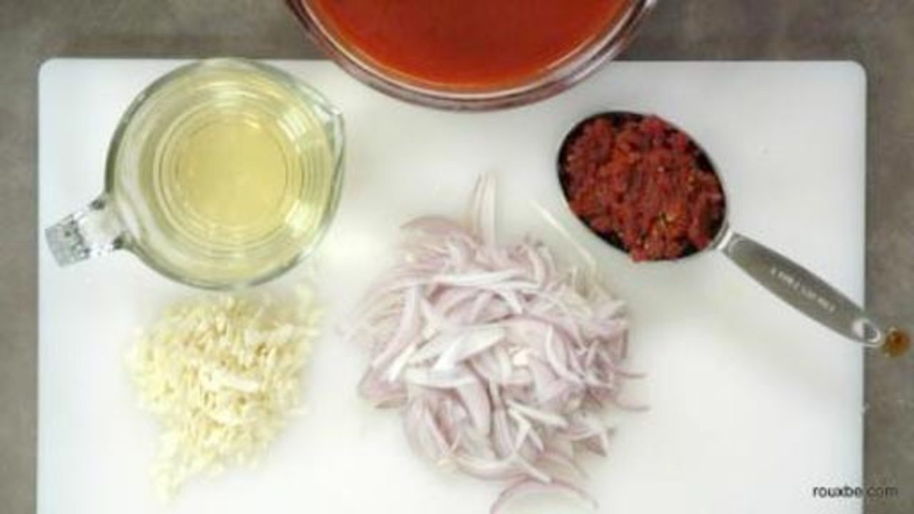 Preparing the Ingredients for the Sauce