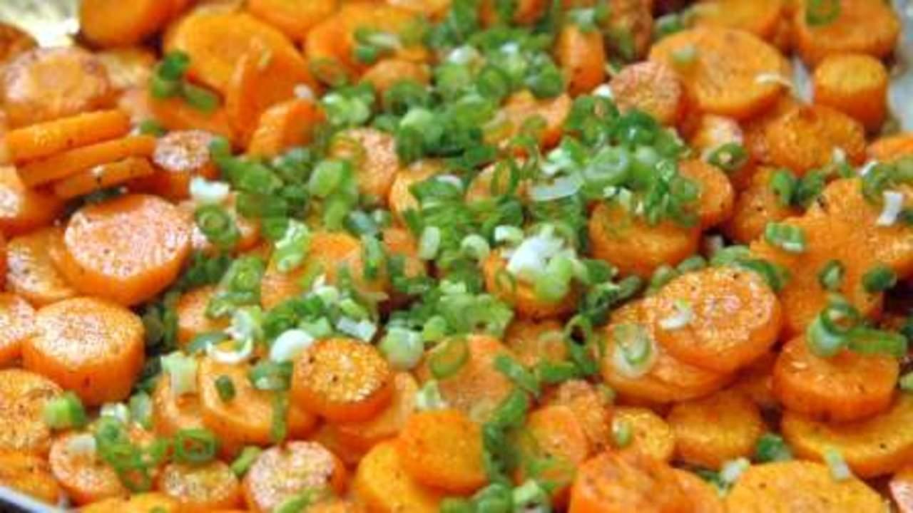 Sautéed Carrots & Green Onions