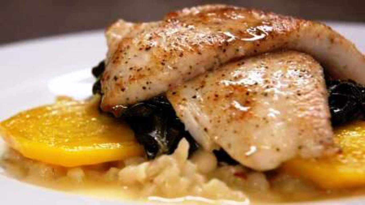 Sole With Beurre Blanc And Golden Beets