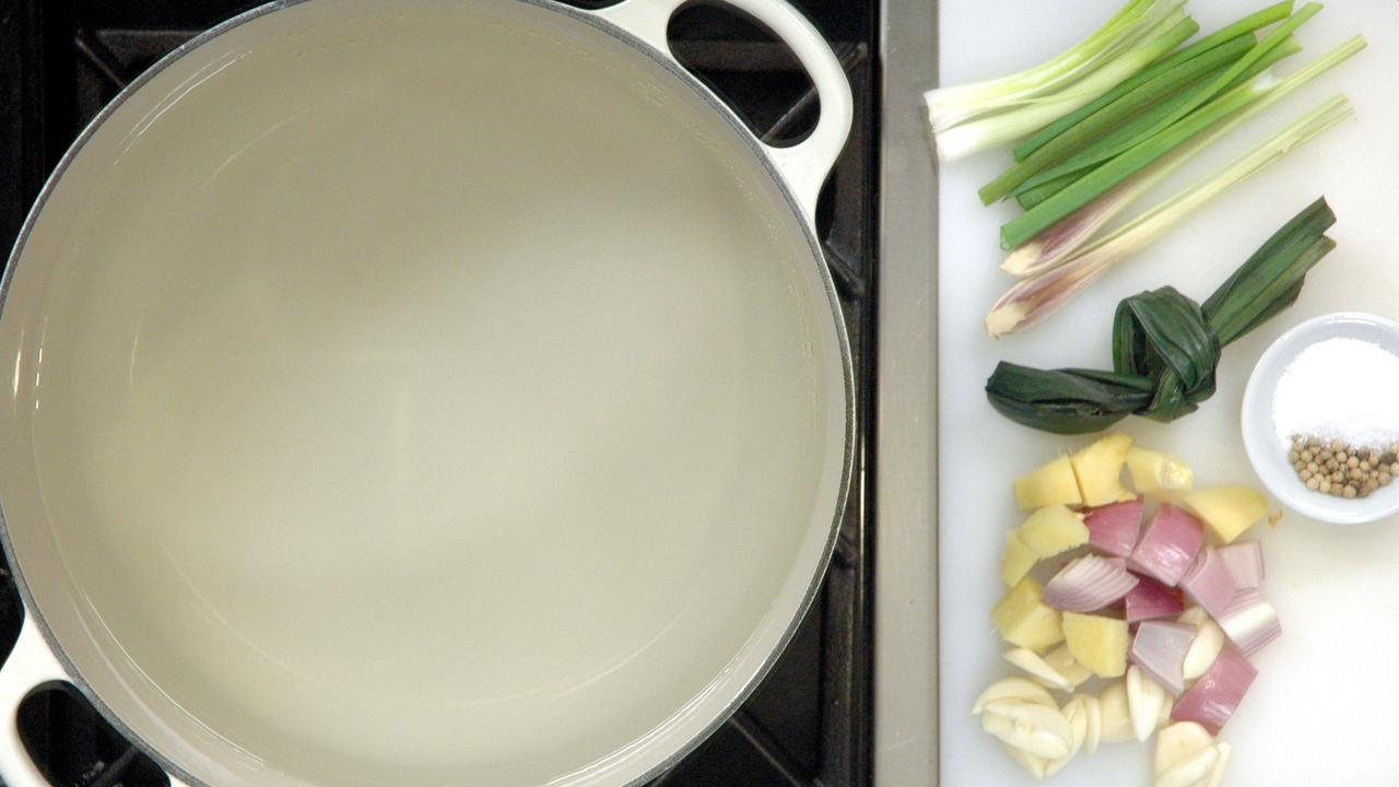 Preparing the Court Bouillon