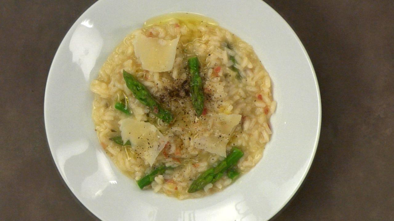 Pancetta, Leek & Asparagus Risotto