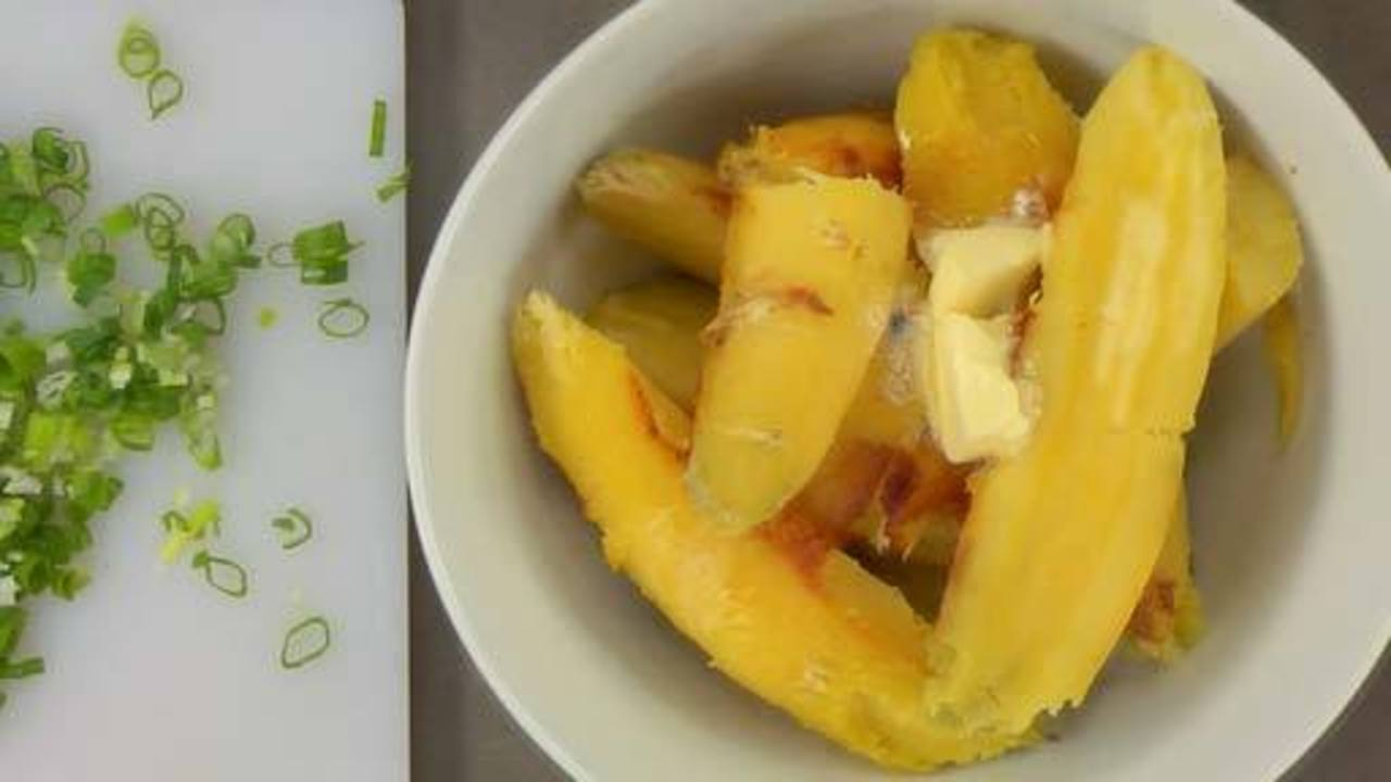 Making the Sweet Potatoes