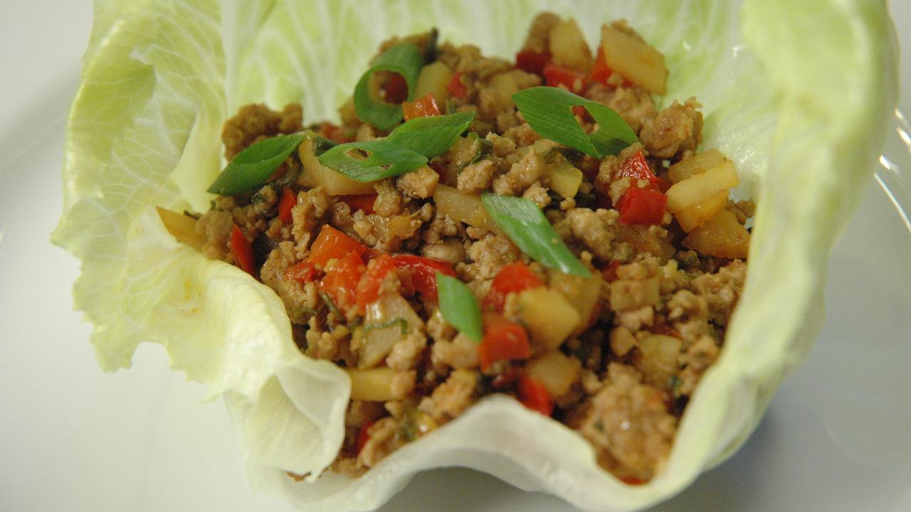 Pork Lettuce Wraps | Pork San Choy Bau