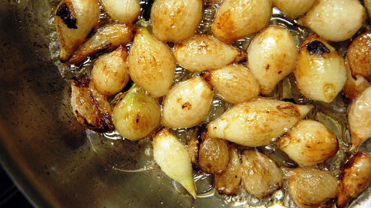 Sautéing the Onions