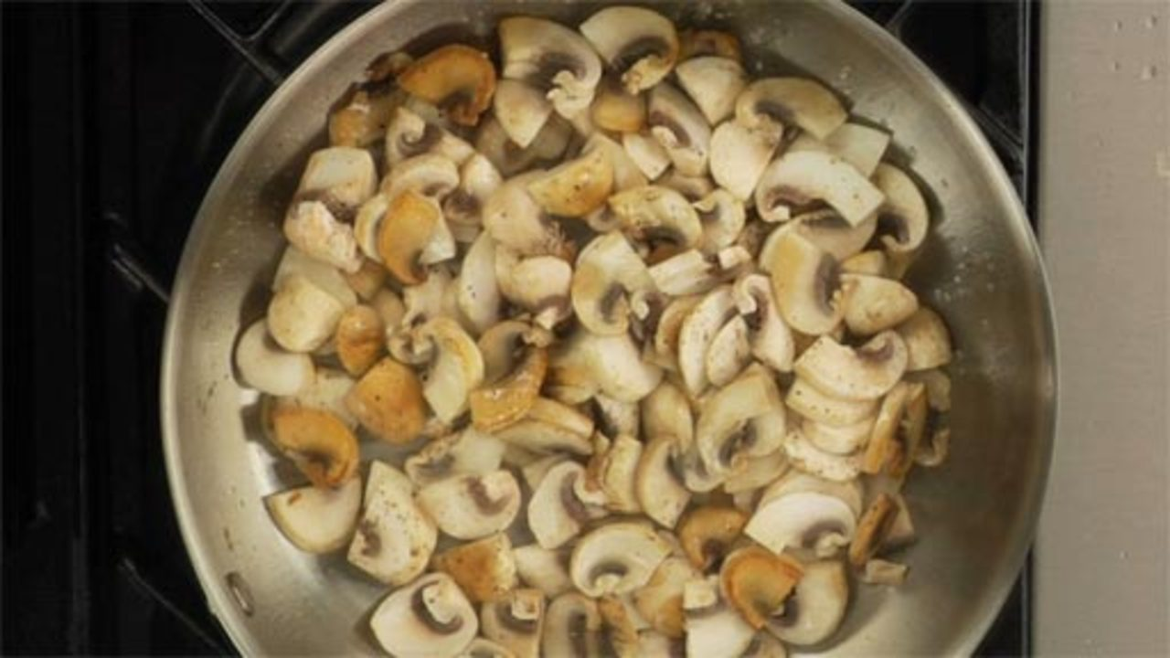 Sautéeing the Mushrooms