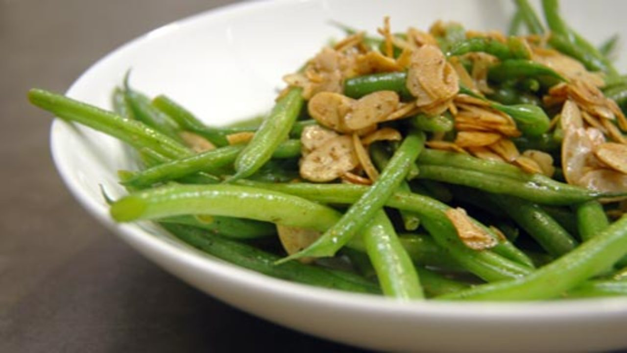 Green Beans W/ Almonds And Brown Butter
