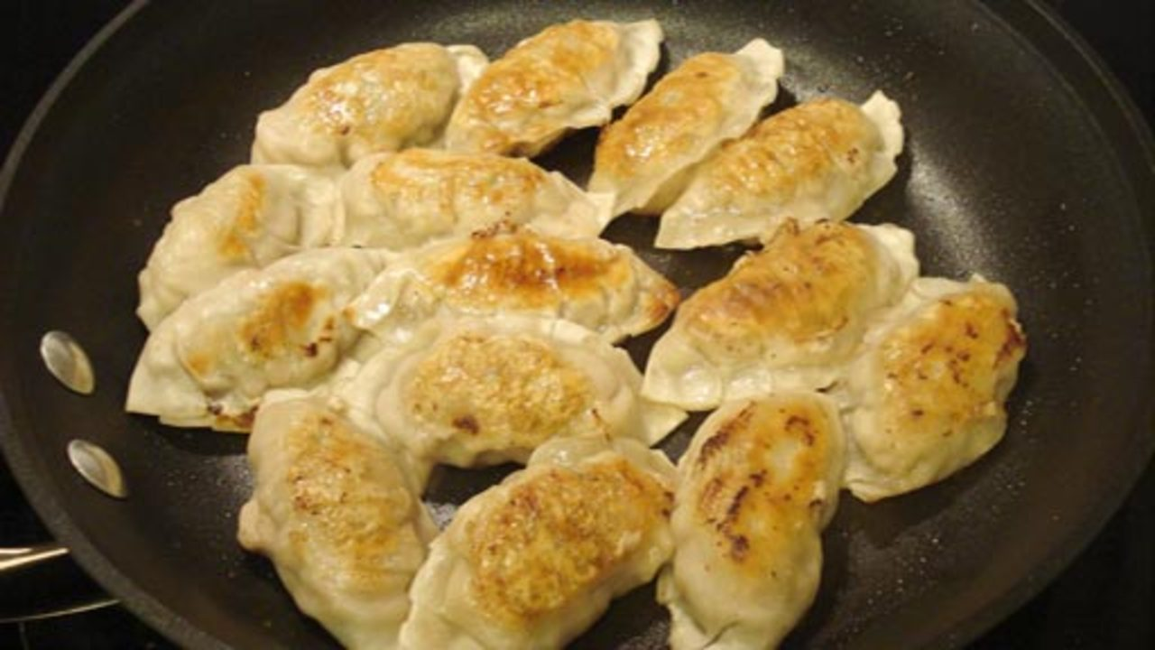 Pan-Frying & Serving the Dumplings