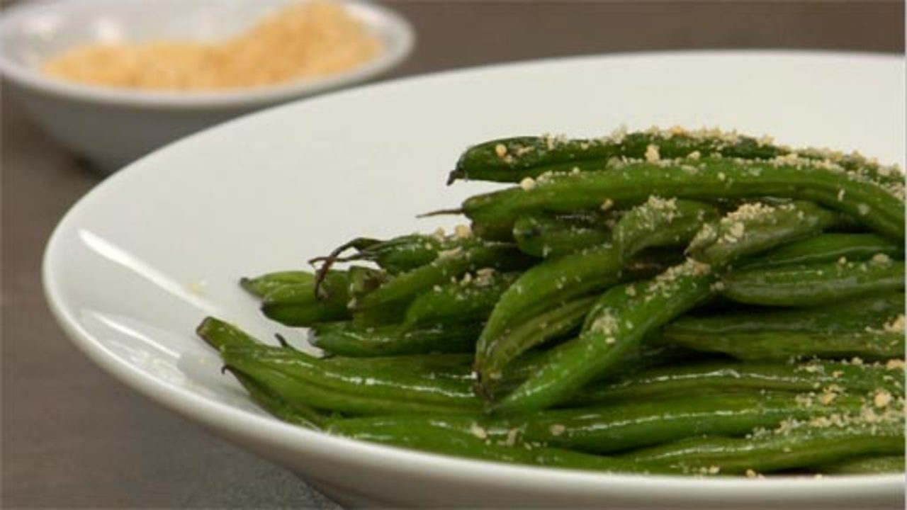 Roasted Green Beans With Sesame Sea Salt