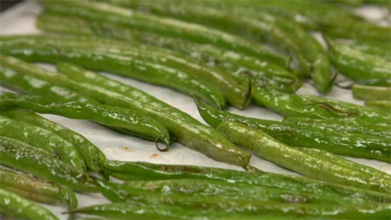 Roasting the Green Beans