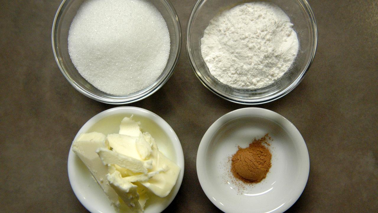 Gathering the Streusel Ingredients
