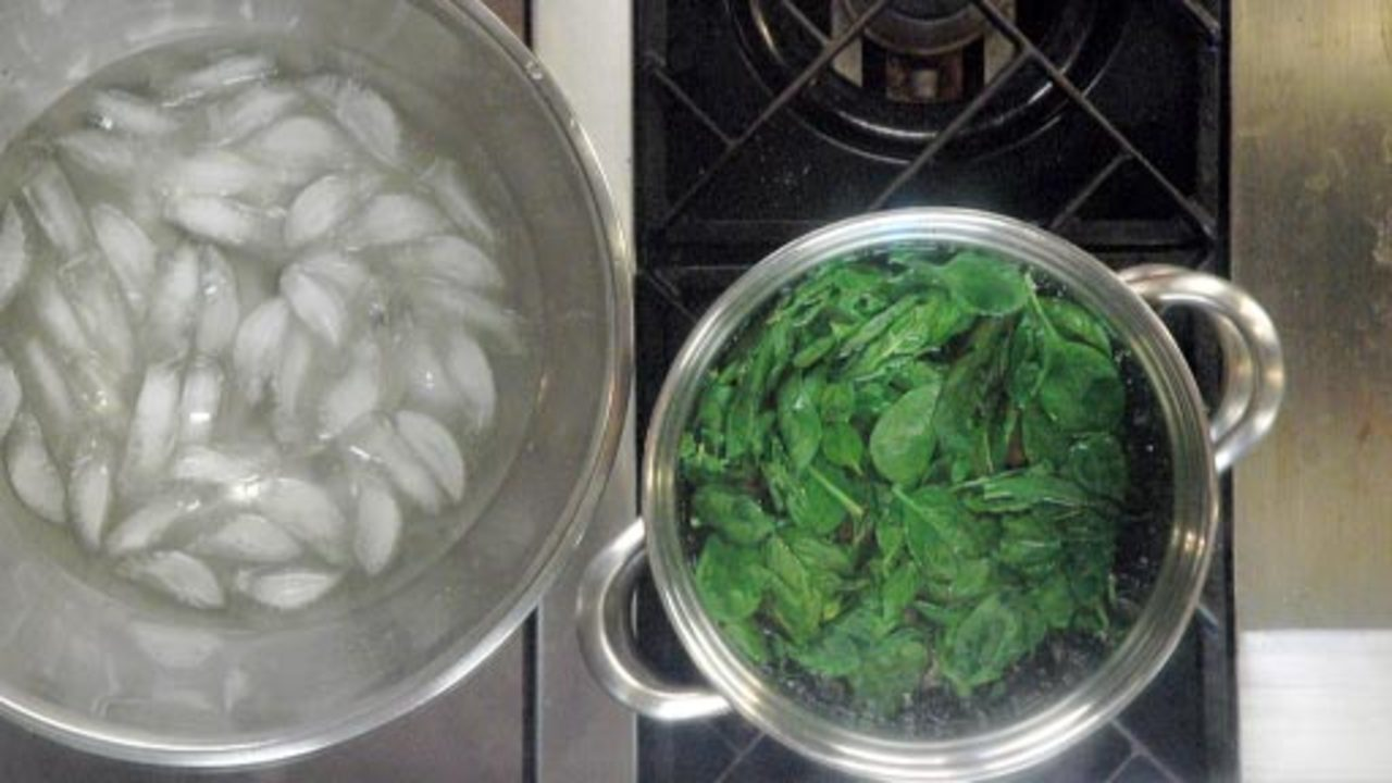 Blanching the Basil