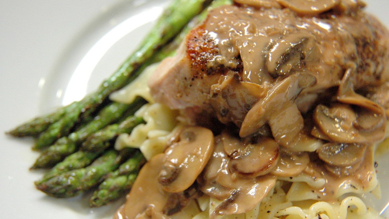 Chicken Breasts W/ Mushroom Cream Sauce