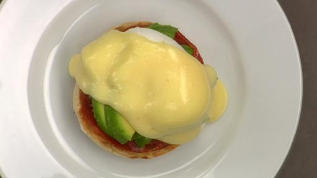 Chorizo And Avocado Eggs Benedict