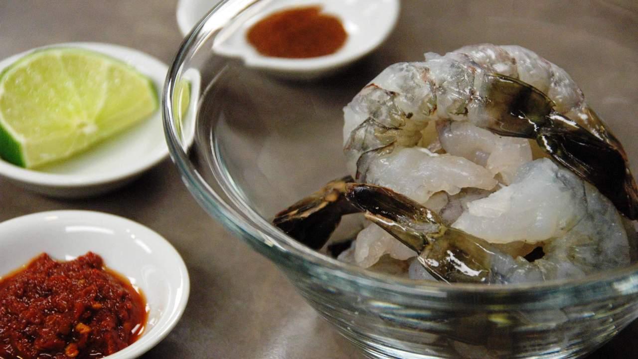 Marinating the Prawns | Shrimp