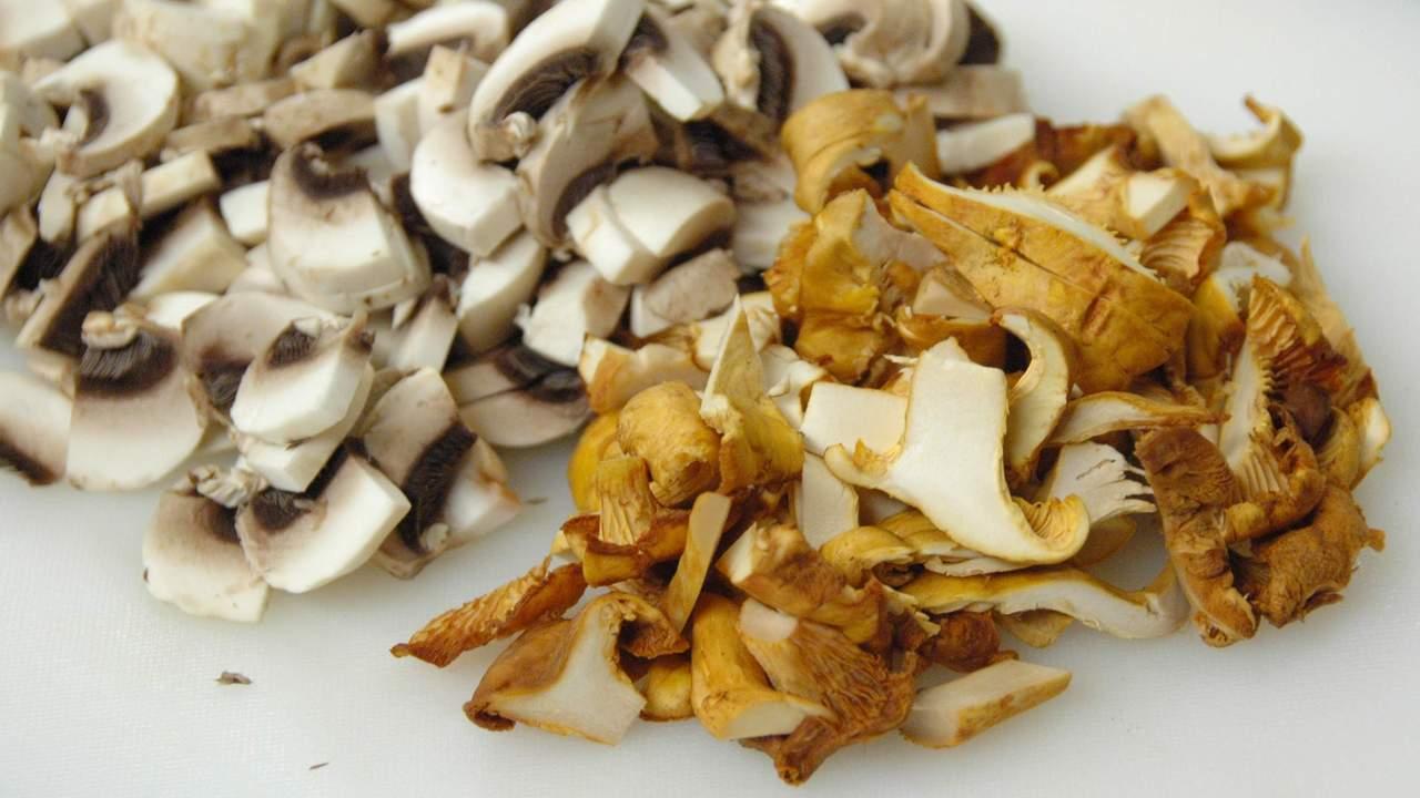 Preparing the Mushrooms