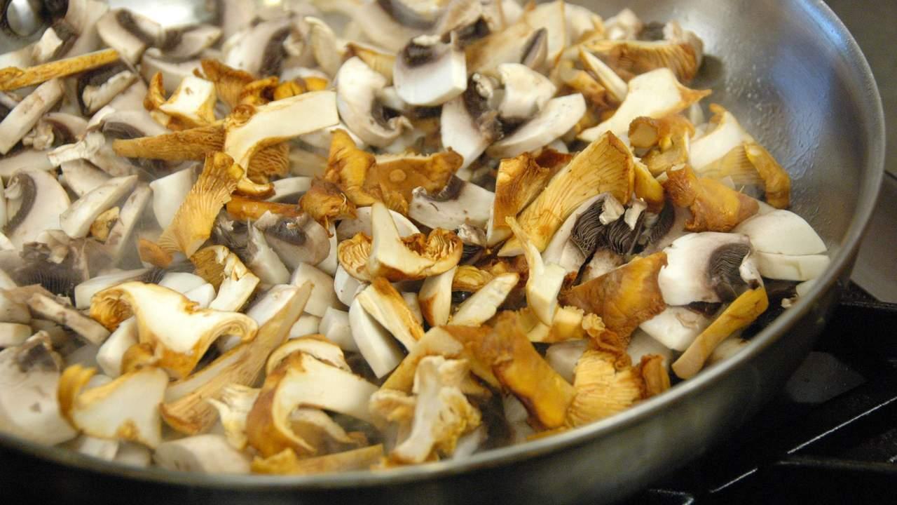 Sauteing the Mushrooms