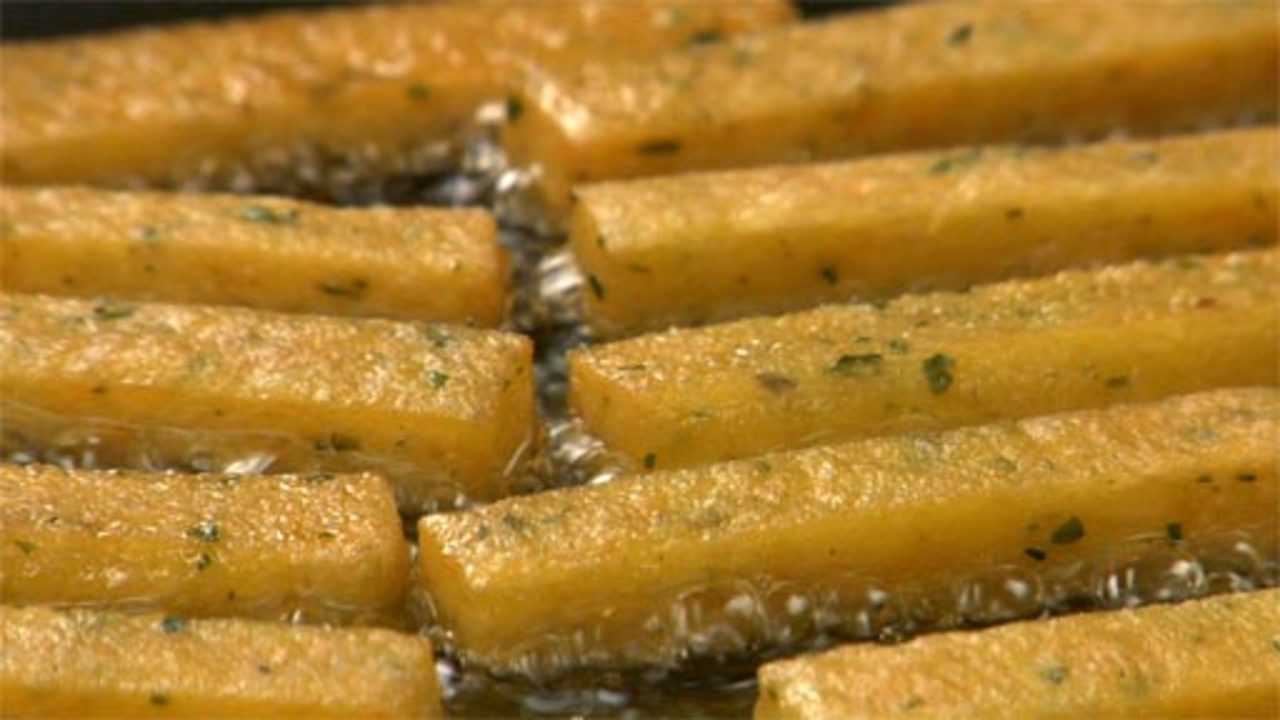 Frying and Serving the Chickpea Fries