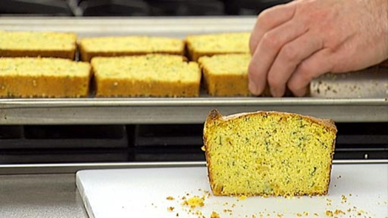 Slicing and Toasting the Cornbread