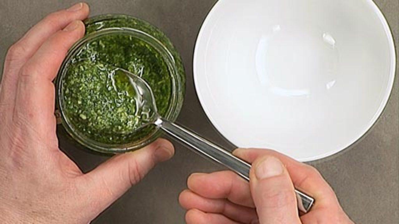 Preparing the Pesto