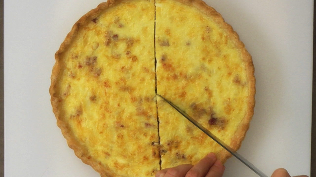 Serving the Quiche Lorraine