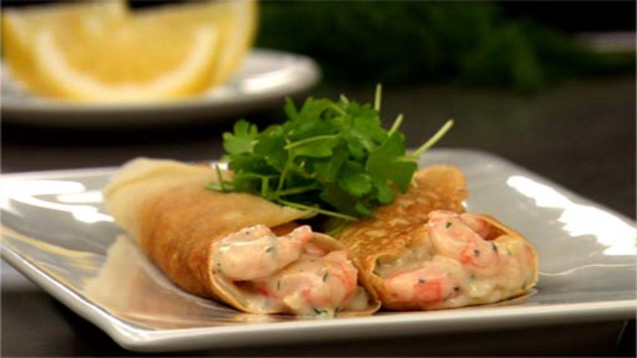 Creamy Shrimp, Fennel & Dill Crêpes