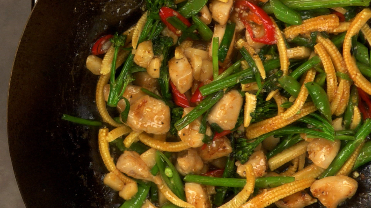 Stir-Frying the Dish