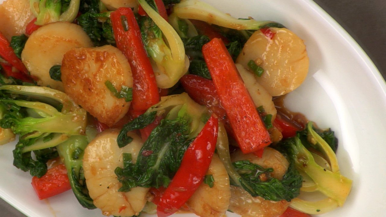 Stir Fried Chili Bean Scallops