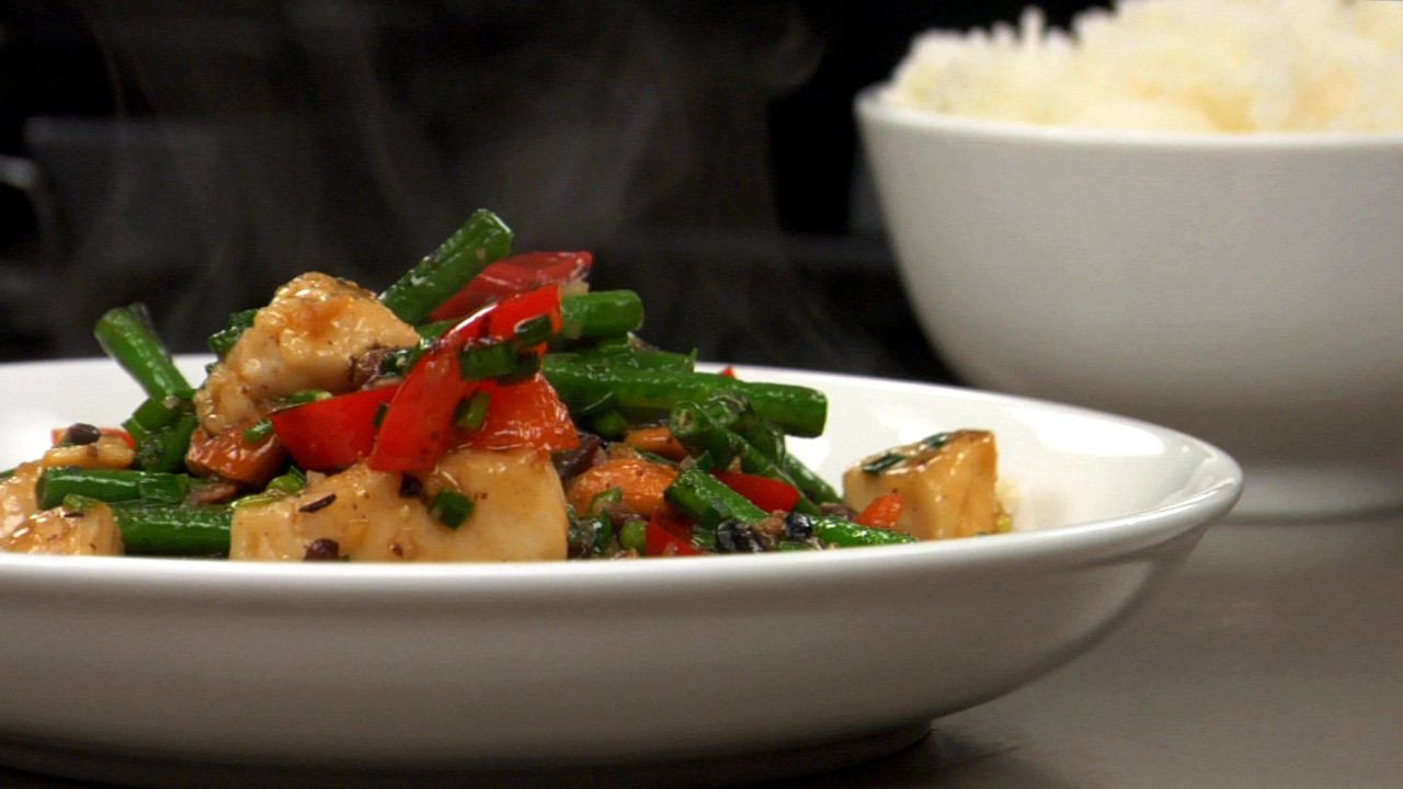 Stir Fried Chicken W/ Black Bean Sauce