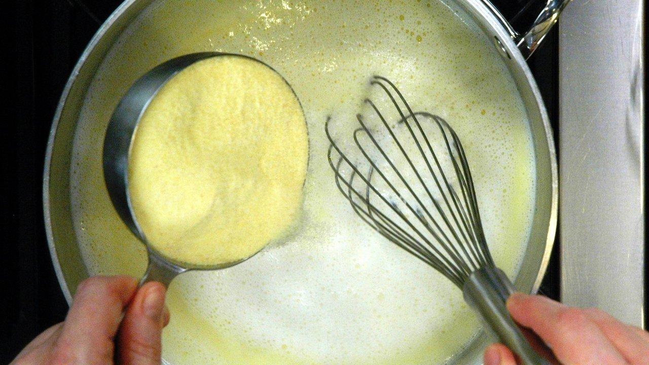 Making the Polenta
