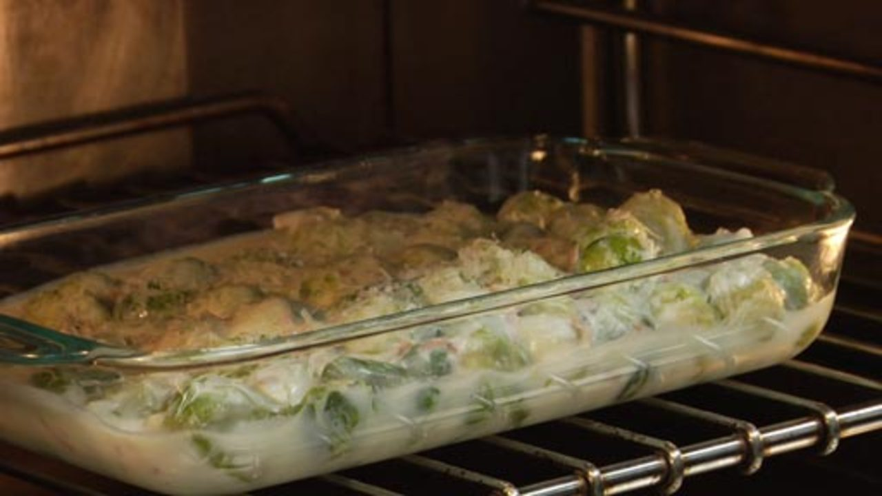 Baking the Brussel Sprouts