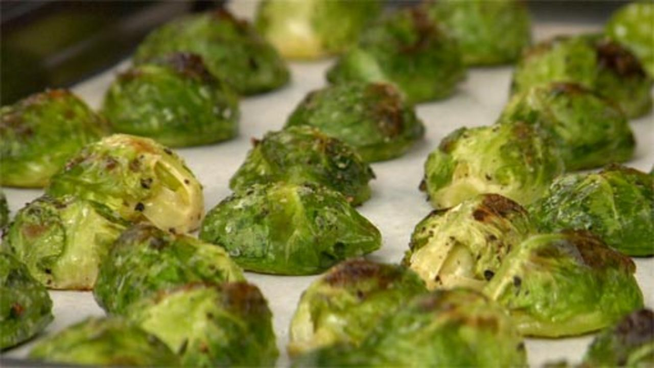 Roasting the Brussels Sprouts