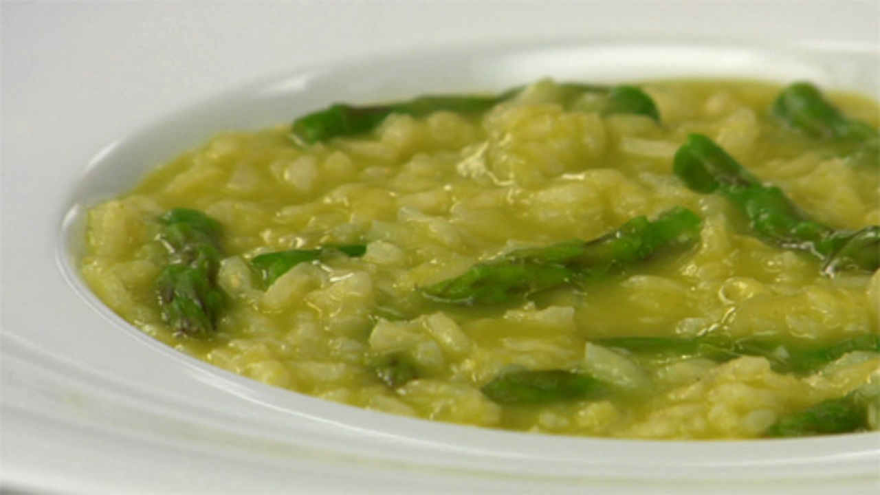 Asparagus Risotto W/ Truffle Oil