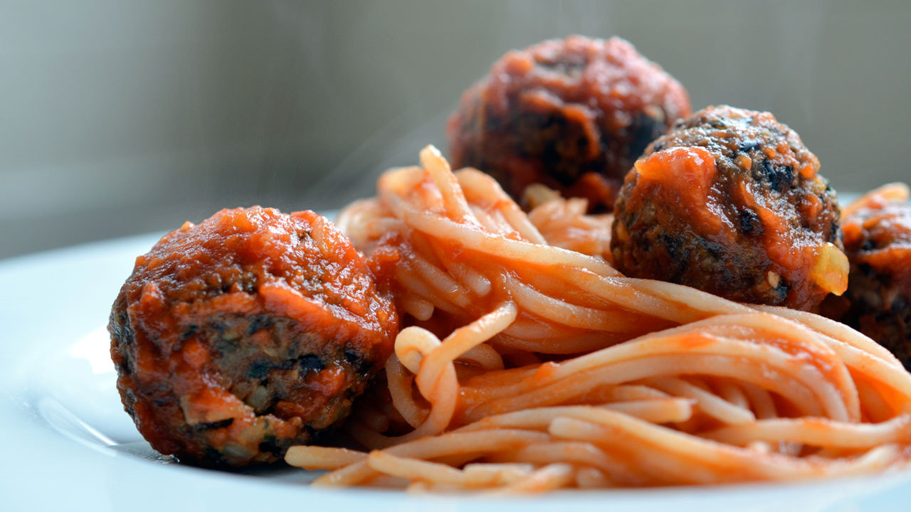 "Spaghetti & Plant Based ""Meat"" Balls"