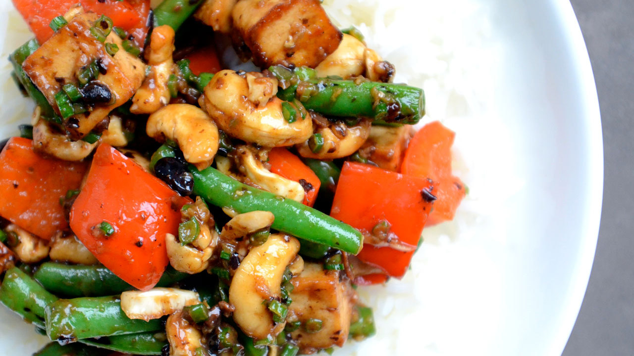 Stir Fried Vegetables & Tofu W/ Black Bean Sauce