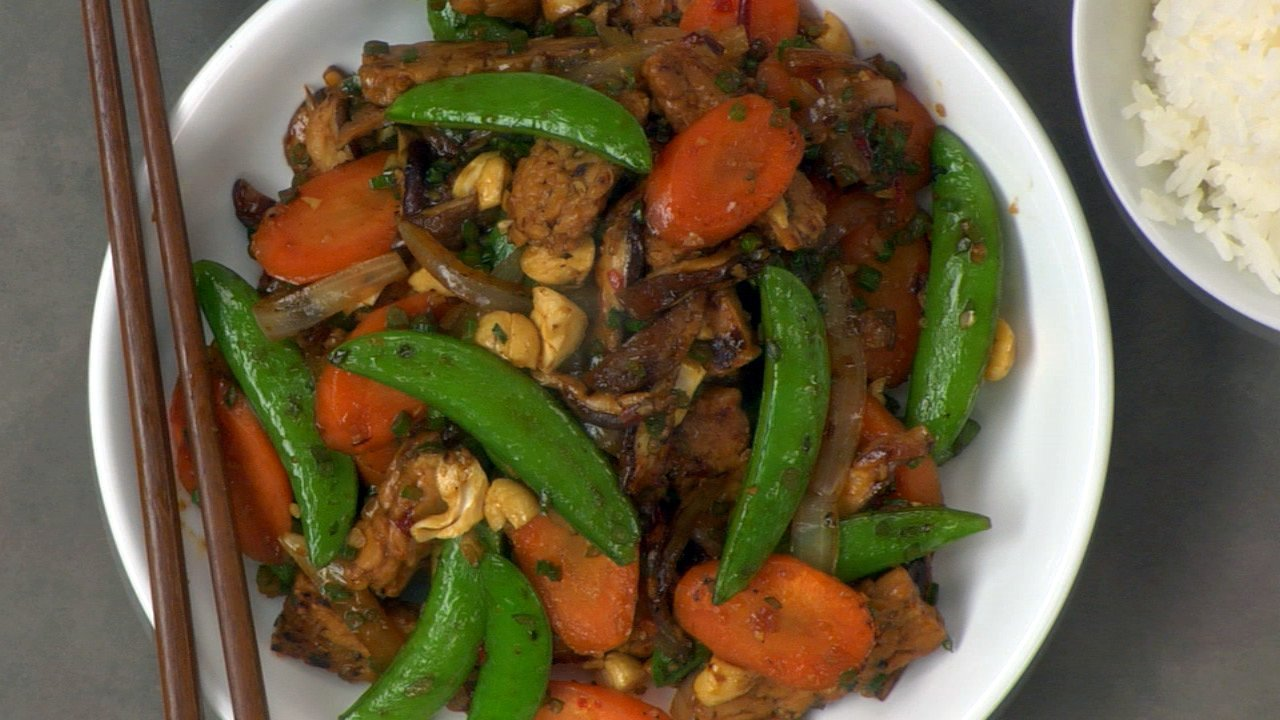 Stir Fried Vegetables & Tempeh