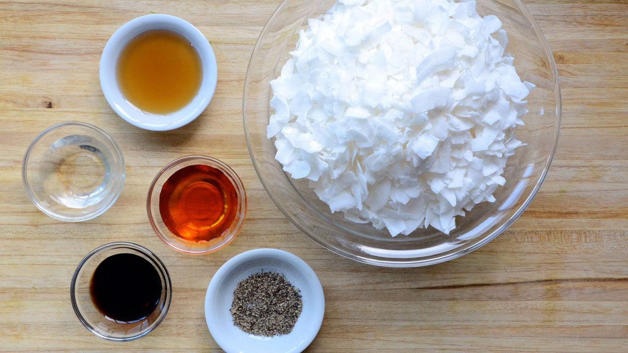 Preparing the Coconut