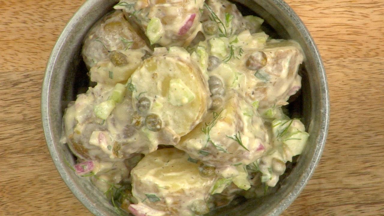 Baby Potatoes W/ Caper Aioli