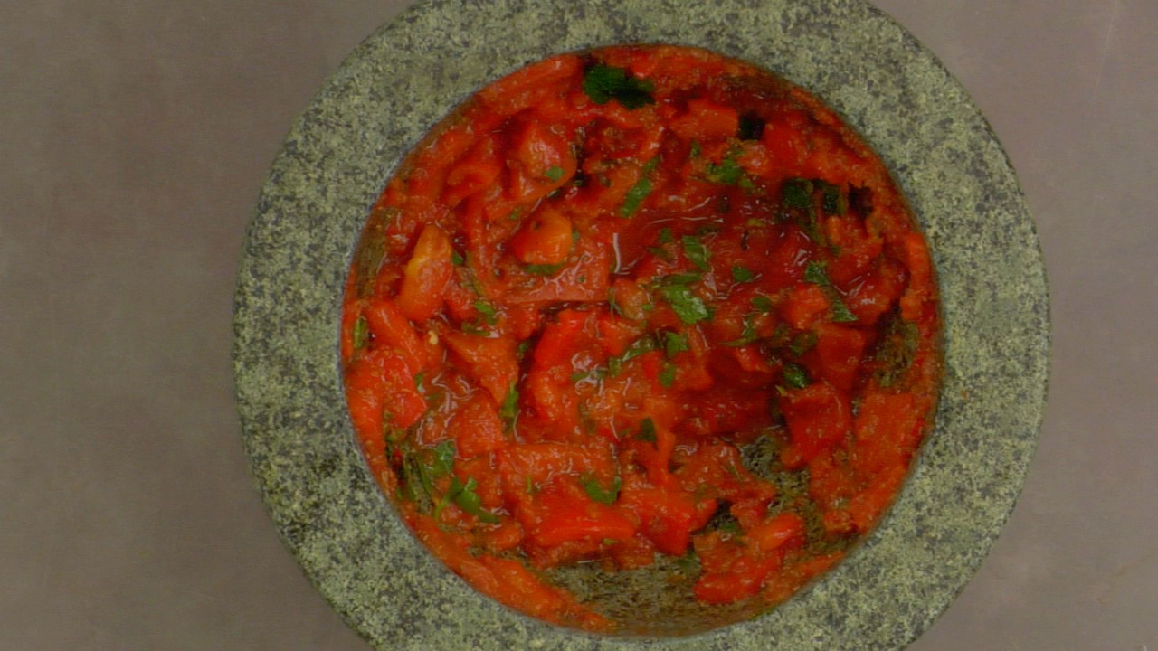 Finishing the Harissa