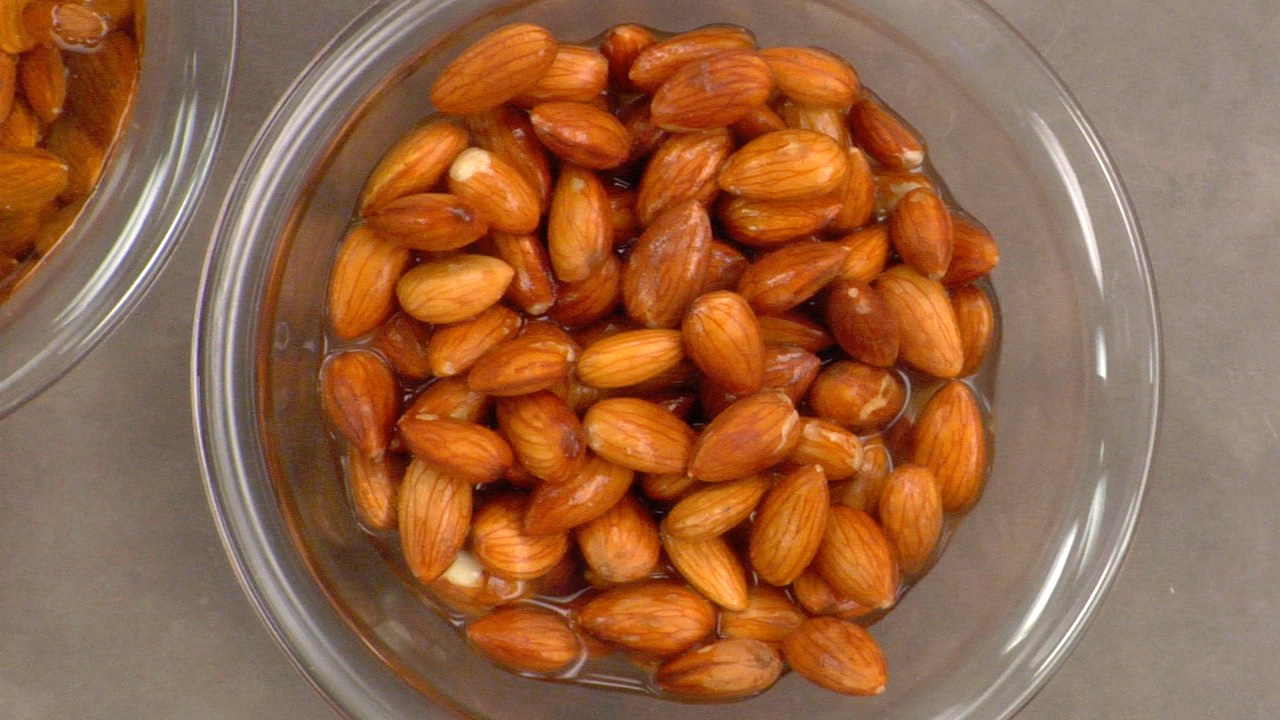 Soaking the Almonds