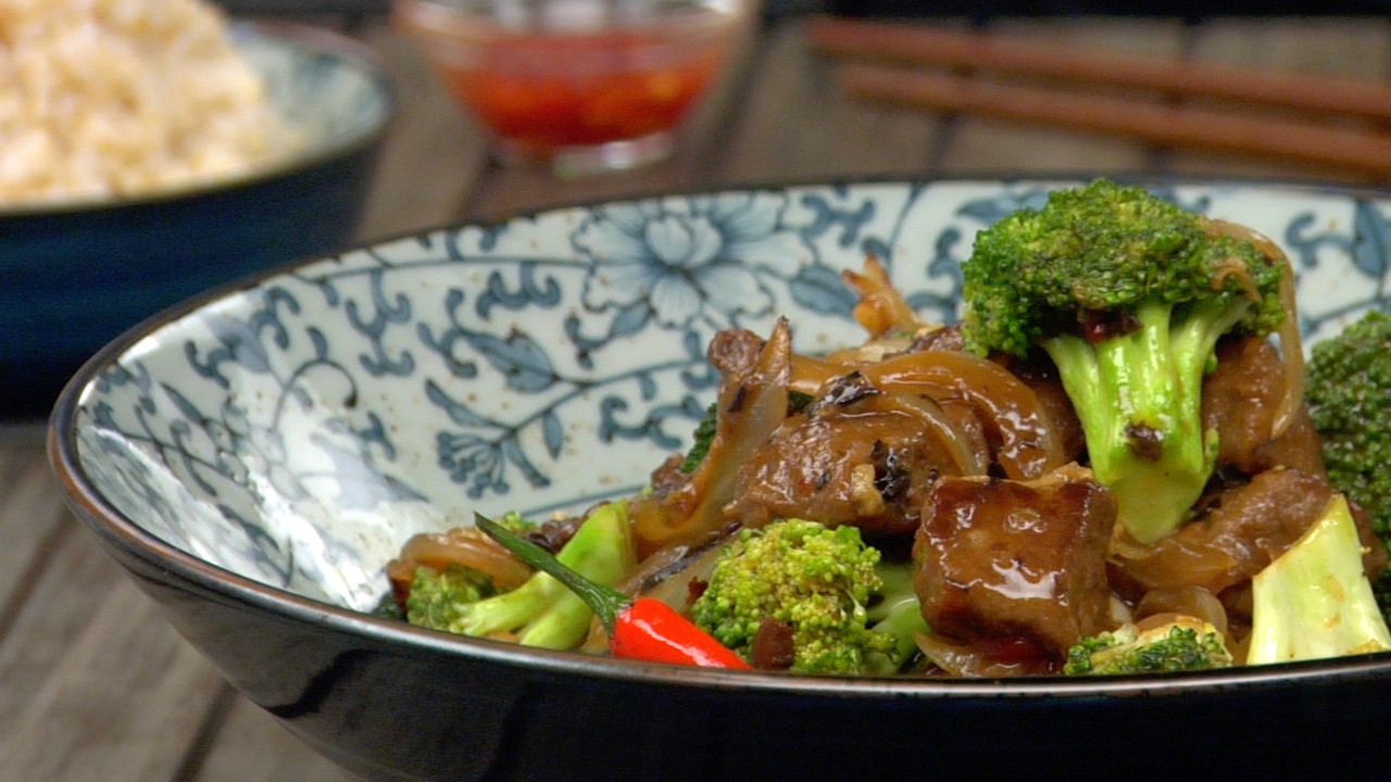'beef' & Broccoli W/ Black Bean Sauce