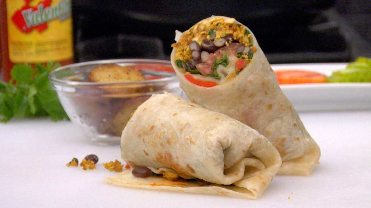 Tofu Scramble & Black Bean Burrito