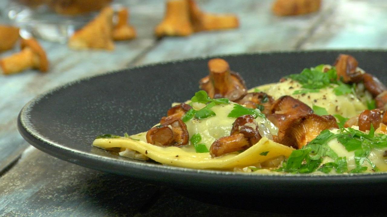 Truffled Ravioli W/ Chanterelles