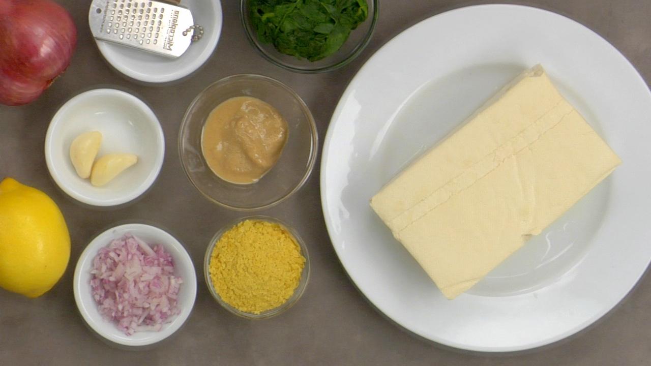 Preparing the Tofu Ricotta